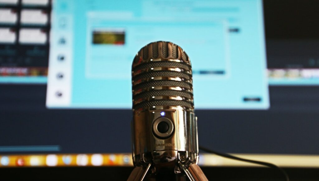 Podcast recording microphone